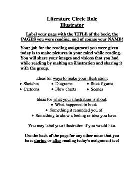 Literature Circle Sheets And Rubric