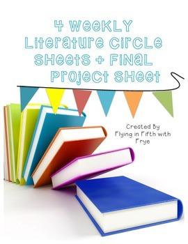 Literature Circle Sheets + Project Sheet