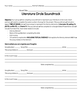 Literature Circle Soundtrack Project