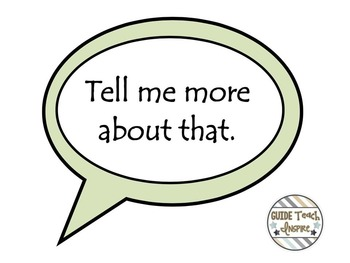 Literature Circle Speech Bubble Conversation Prompts and Guidelines Poster