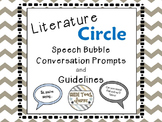 Literature Circle Speech Bubble Conversation Prompts and G