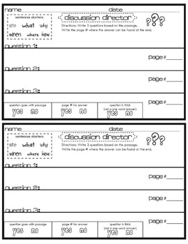 Literature Circle Task Management Display Board & Worksheets for Primary Grades