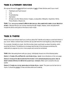 Literature Circle Tasks