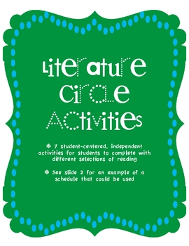 Literature Circle Unit