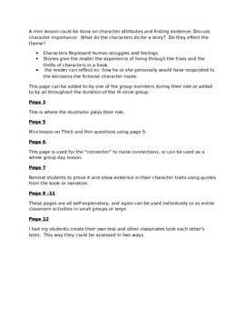 Literature Circle Unit Lessons and Packet