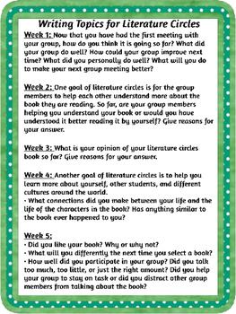 Literature Circle Unit - Middle School