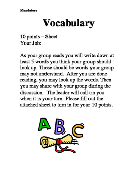 Literature Circle - Vocabulary