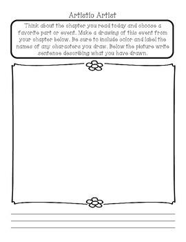Literature Circle Worksheets/Printables