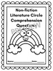 Literature Circle and Independent Reading Fiction and Non-fiction Questions
