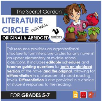 Literature Circle for The Secret Garden - both orig. & abridged {Digital & PDF}