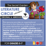 Literature Circle for The Secret Garden - both orig. & abr