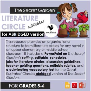 Literature Circle for The Secret Garden - abridged version {Digital & PDF}