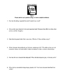 Literature Circle or Homework Questions for Science-Fictio