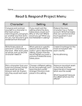 Literature Circle or Reading Team Activities - Use with ANY BOOK!