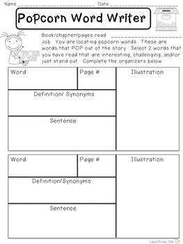 Literature Circles - Hollywood Themed Role Sheets