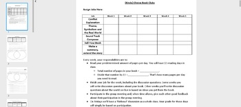 Literature Circles--5 Week Standards Based Unit with Embedded Rubrics