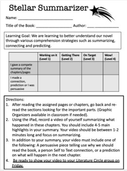 Literature Circles Grade 4-6 Perfect for teachers 1st time attempt