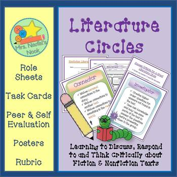 Literature Circle Roles, Fiction and Nonfiction Guide and Posters