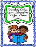 Literature Circles Arts Integration Project Choice Board