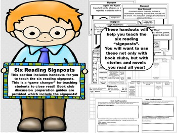 Literature Circle Activity Guide ~ Forms, Activities, & Reading Signposts!