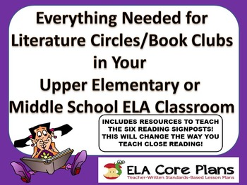 Literature Circle Activity Guide ~ Forms, Activities, & Re