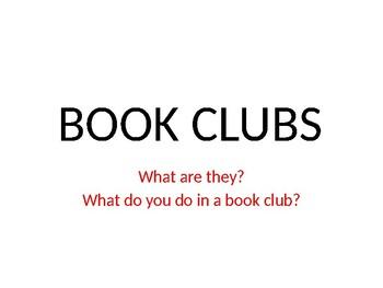 Literature Circles/Book Clubs Powerpoint