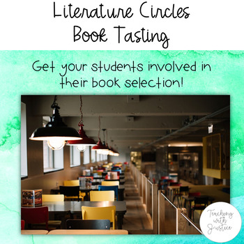 Literature Circles Book Tasting: Get students engaged in book selection!