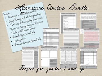 Literature Circles Bundle for Grades 7 and up