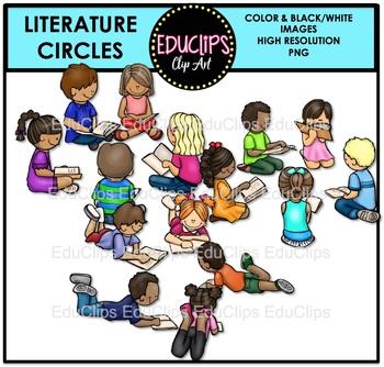 Literature Circles Clip Art Bundle {Educlips Clipart}