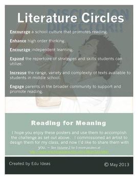 Literature Circles Comprehension Posters - Volume 1
