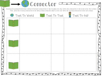 Literature Circles - Connector Worksheet (Updated)