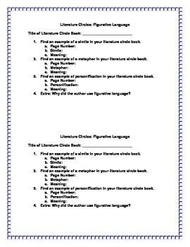 Literature Circles: Figurative Language