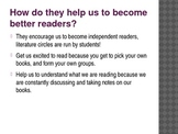 Literature Circles For Students