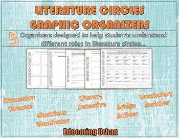 Literature Circles Graphic Organizers Grades 6,7,8,9,10