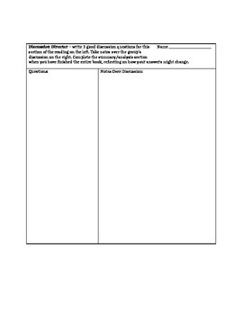 Literature Circles Group Reading Assignments