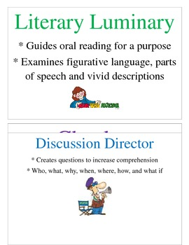 Literature Circles:  Job Cards