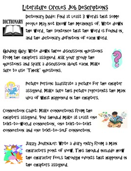 Literature Circles Job Descriptions