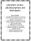 Literature Circles: Job Descriptions, Worksheets, and more!