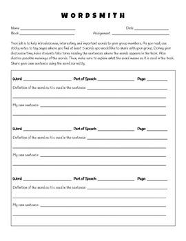 Literature Circles - Job Sheets and More!