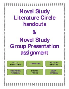 Literature Circles Novel Group Assignment with Rubric