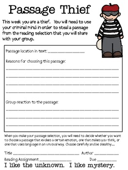 Literature Circles Packet...Can you Solve the Mystery?