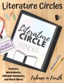 Literature Circles: Posters, Worksheets, Editable Handouts