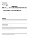 Literature Circles Questioner Template