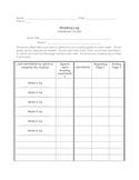 Literature Circles: Reading Log Chart