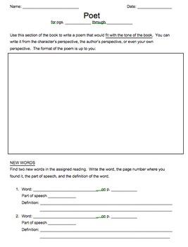 Literature Circles Role Sheets