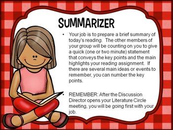 Literature Circles Six Basic Job Descriptions