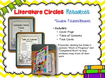 Primary Literature Circles Task Cards