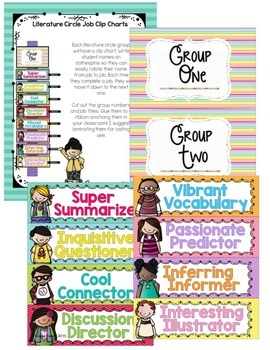 Literature Circles for 3rd, 4th, 5th, 6th Grade