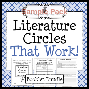 Literature Circles That Work Sample Pack *Common Core Aligned!