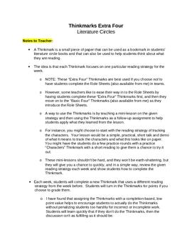Literature Circles: Thinkmarks Extra Four
